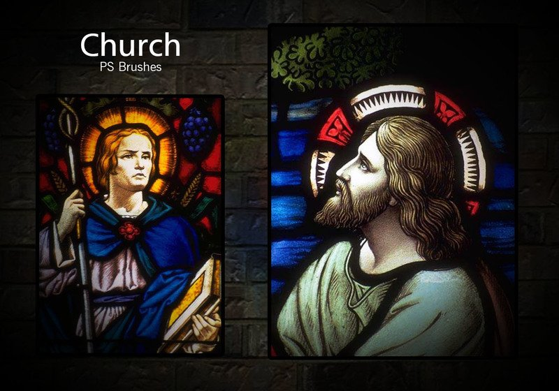 20 Church PS Brushes abr. vol.8 Photoshop brush