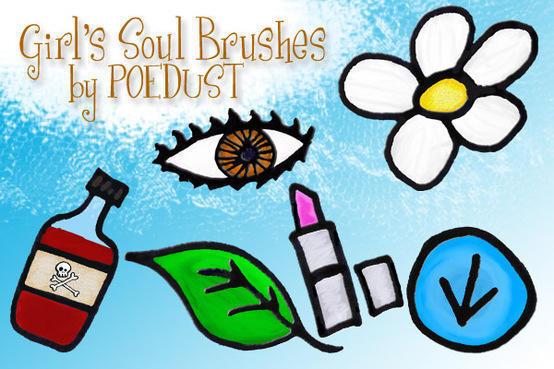Girl's Soul Brushes by Poedust Photoshop brush