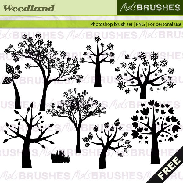 Woodland Brushes Photoshop brush