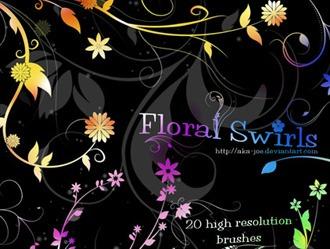 Floral Swirls Photoshop brush