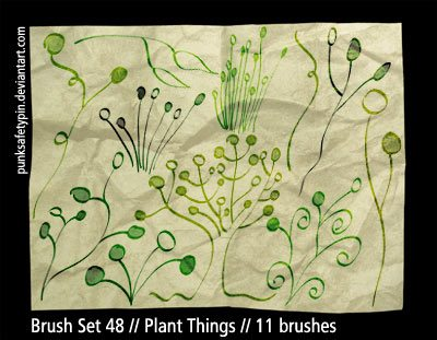 Plant Things Photoshop brush