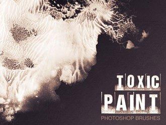 Toxic Paint Photoshop brush