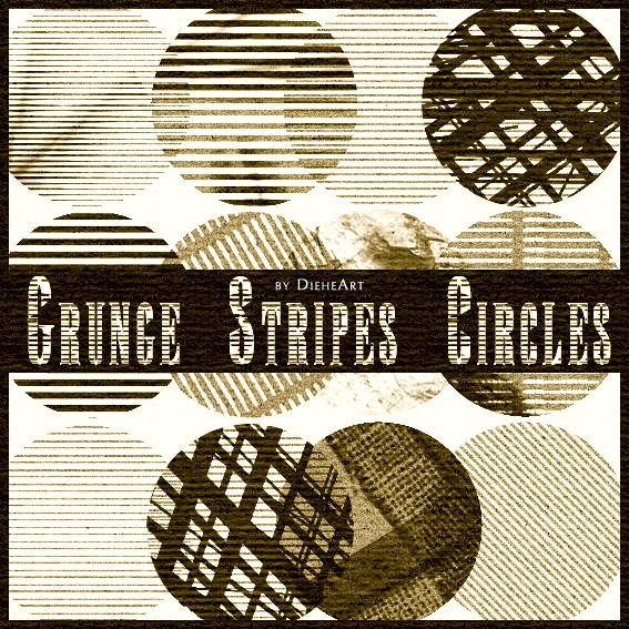Grunge Stripes Circles Brushes Photoshop brush
