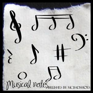 Musical Notes Photoshop brush