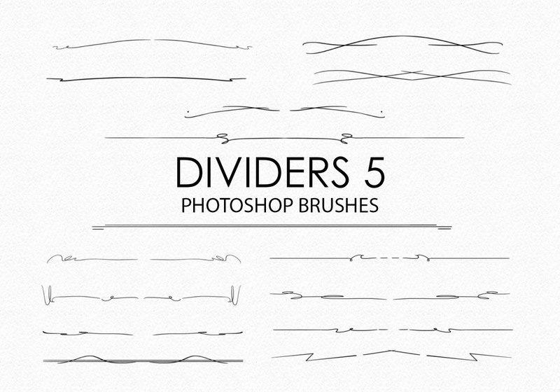 Free Hand Drawn Dividers Photoshop Brushes 5 Photoshop brush
