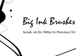 10 Big Ink Brushes Photoshop brush