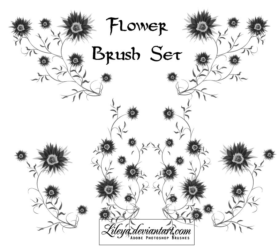Flower Photoshop brush