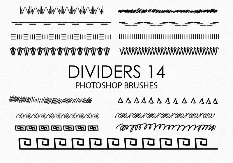 Free Hand Drawn Dividers Photoshop Brushes 14 Photoshop brush