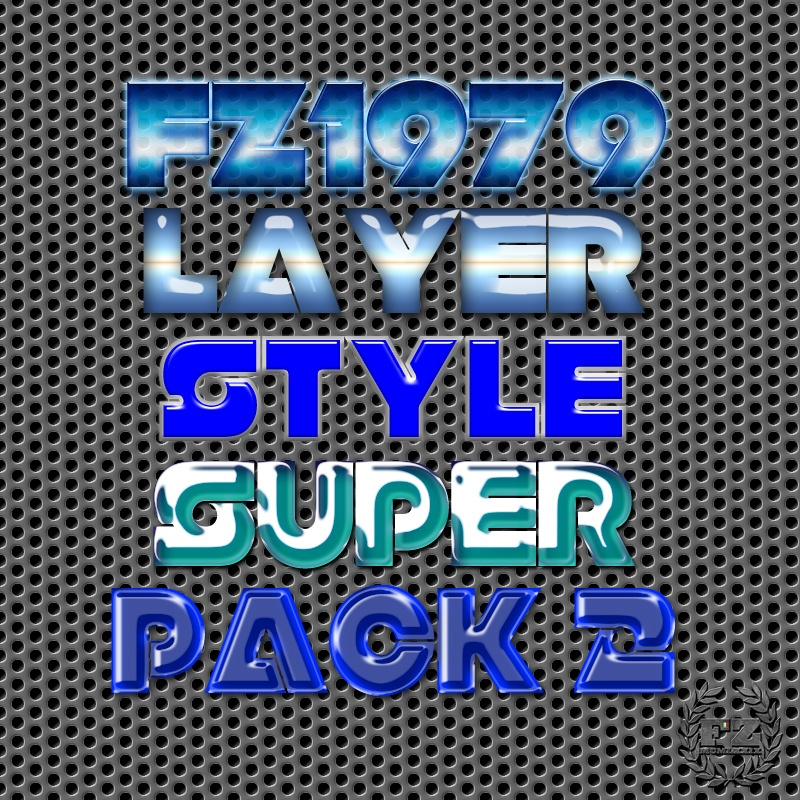 Super pack layer style 2 Photoshop brush