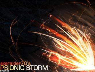 Psionic Storm Photoshop brush