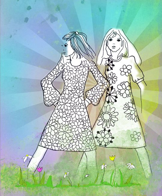 Pair of Girls Photoshop brush
