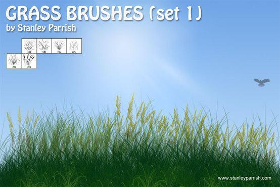 Free Grass Brushes Set 1 Photoshop brush