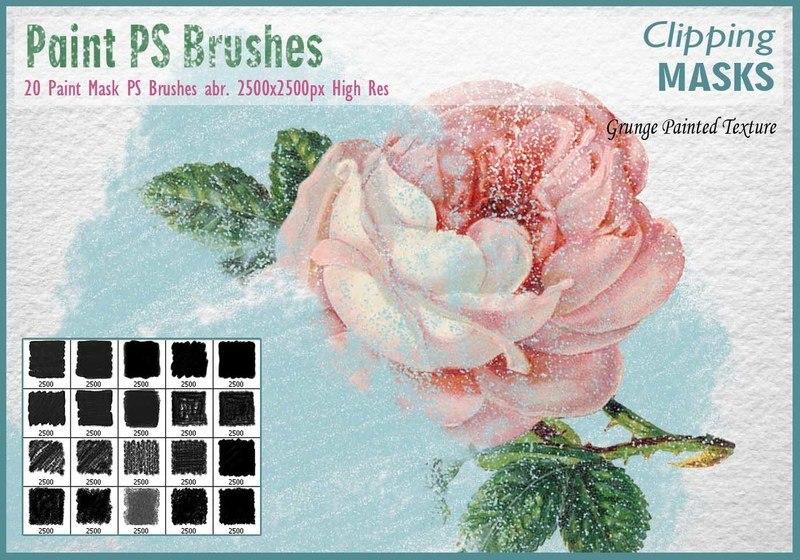 Painted Mask PS Brushes abr. Photoshop brush