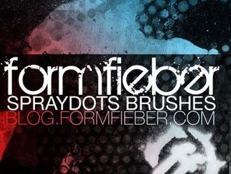 Spray Dots Photoshop brush