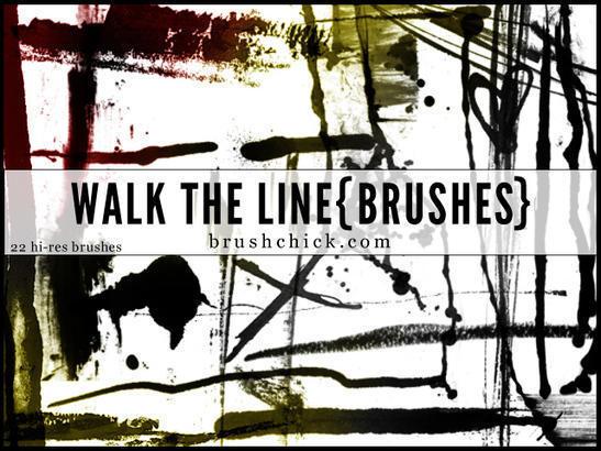 Walk the Line Brush Pack Photoshop brush