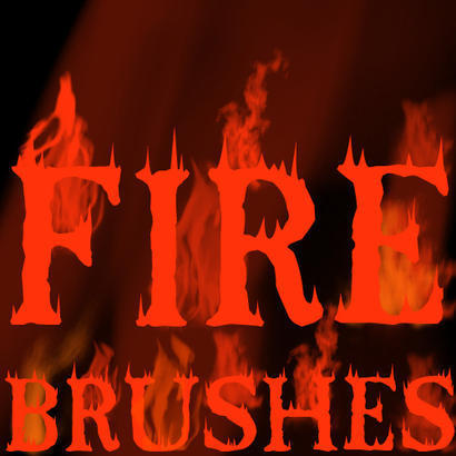 Assorted Fire Brushes Photoshop brush