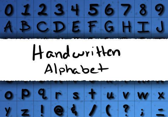 Handwritten Alphabet Brushes Photoshop brush
