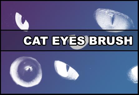 Cat eyes Brush Photoshop brush