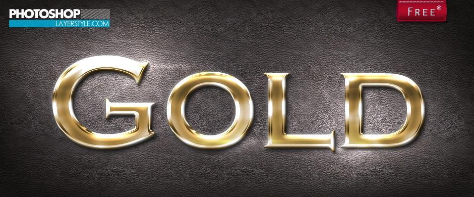 Gold Layer Style 3 Photoshop brush