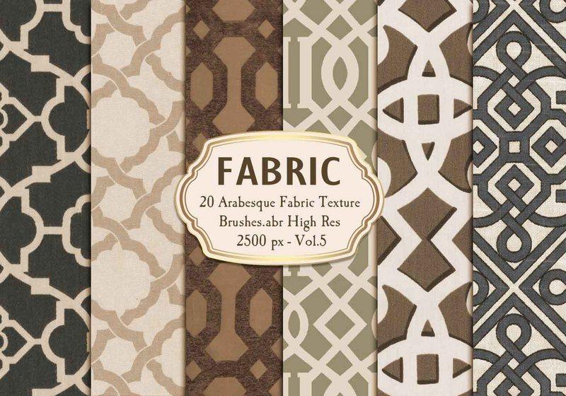 20 Arabesque Fabric Texture Brushes.abr Vol.5 Photoshop brush