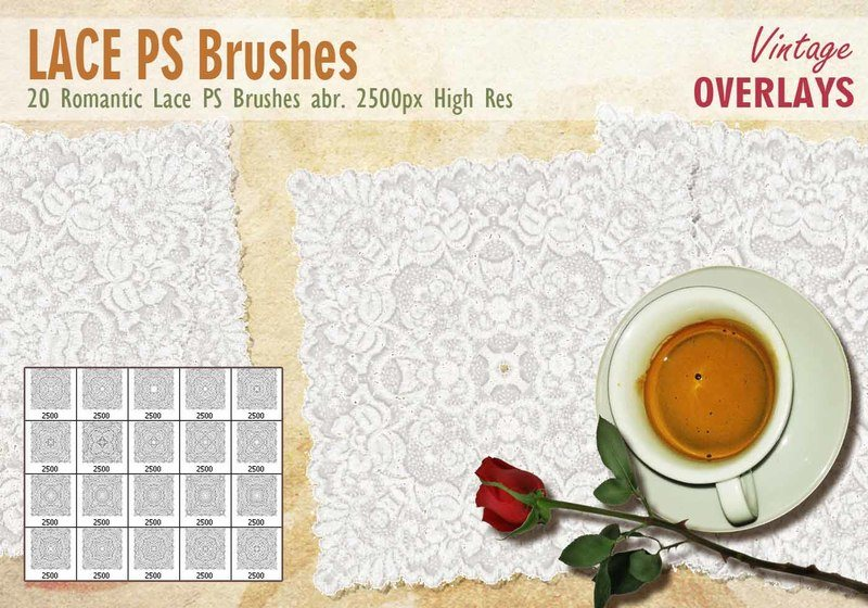 Lace Tile PS Brushes abr. Photoshop brush