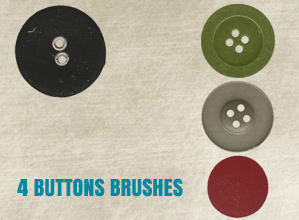 4 Buttons Brushes Photoshop brush