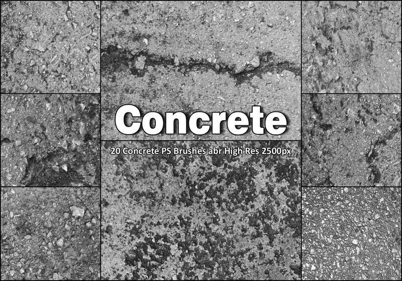 20 Concrete PS Brushes abr vol 8 Photoshop brush