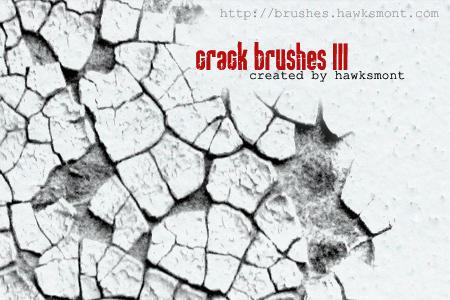 Cracks Brushes III Photoshop brush