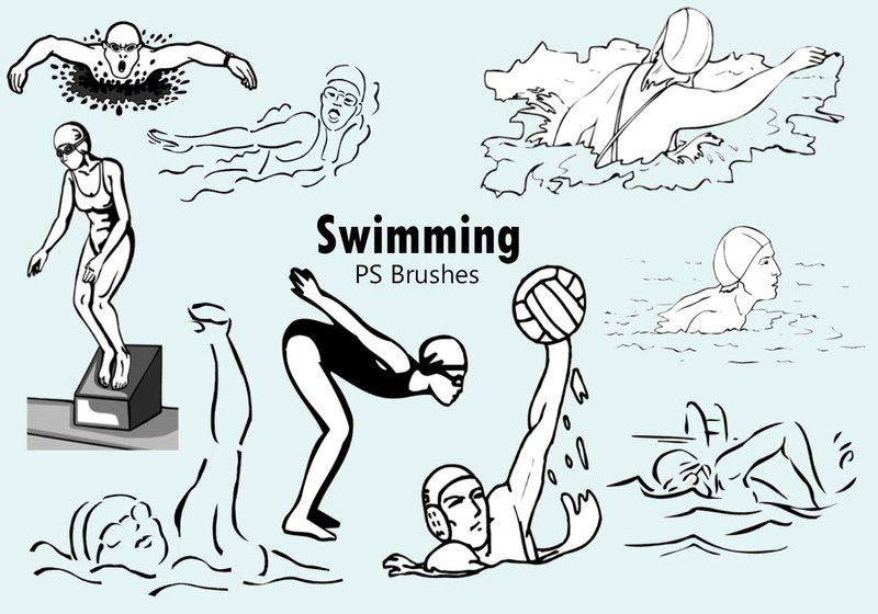 20 Swimming PS Brushes abr Photoshop brush
