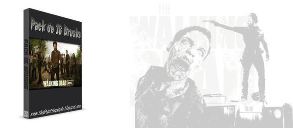 The Walking Dead Zombie Brushes Photoshop brush