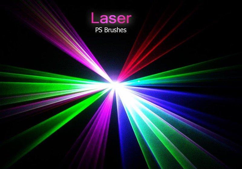 20 Laser PS Brushes abr. vol.3 Photoshop brush