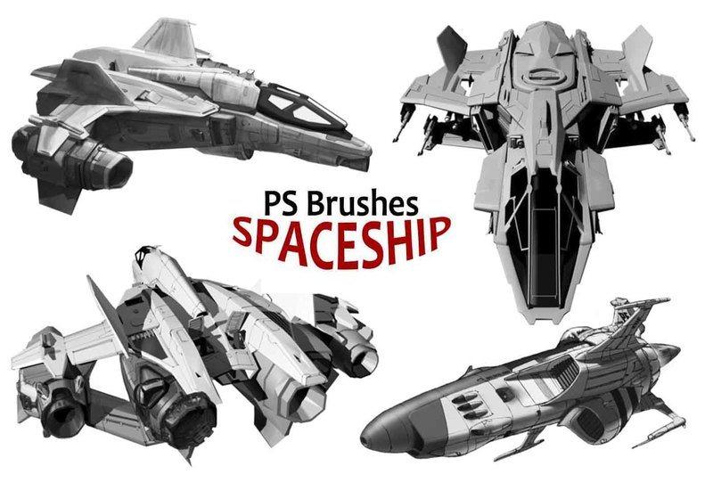 20 Spaceship PS Brushes abr. vol.4 Photoshop brush