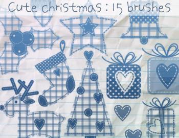 Cute Christmas Brushes Photoshop brush
