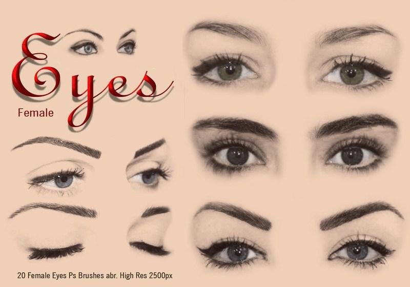 20 Female Eyes Ps Brushes abr Vol 4 Photoshop brush