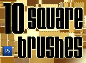10 Square Brushes Photoshop brush