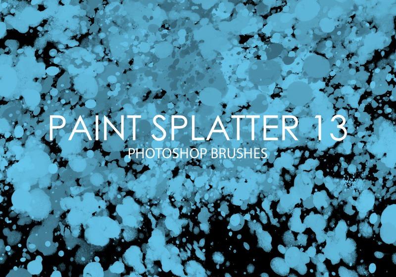 Free Paint Splatter Photoshop Brushes 13 Photoshop brush