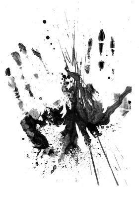 Hand Print Grunge Photoshop brush