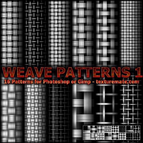 Weave Patterns 1 Photoshop brush
