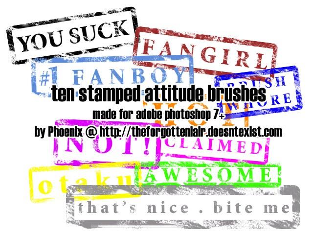 Stamped Attitude Brushes Photoshop brush