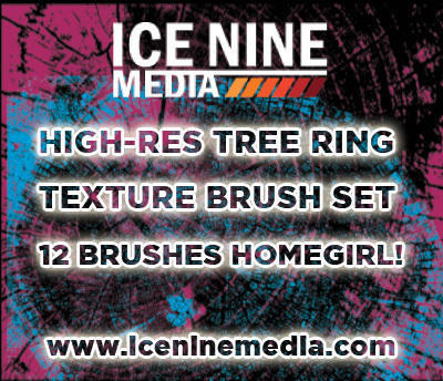 High-Res Tree Ring Texture Brushes for Photoshop Photoshop brush