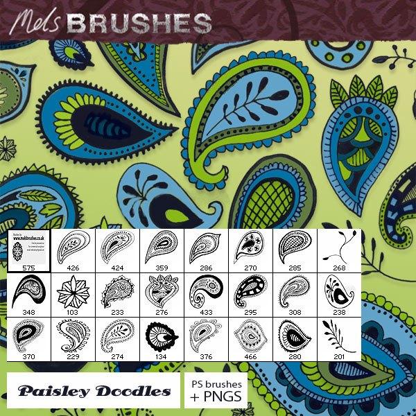 Paisley Doodles Photoshop brush