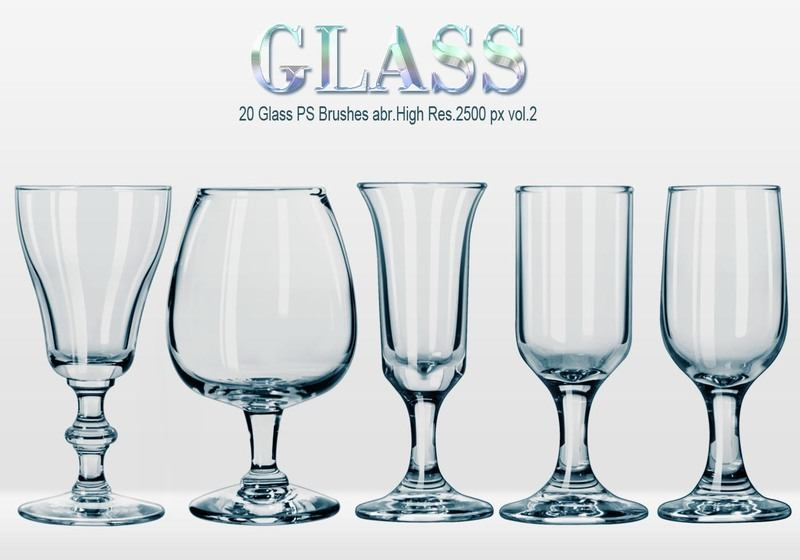 20 Glass PS Brushes abr.vol.2 Photoshop brush
