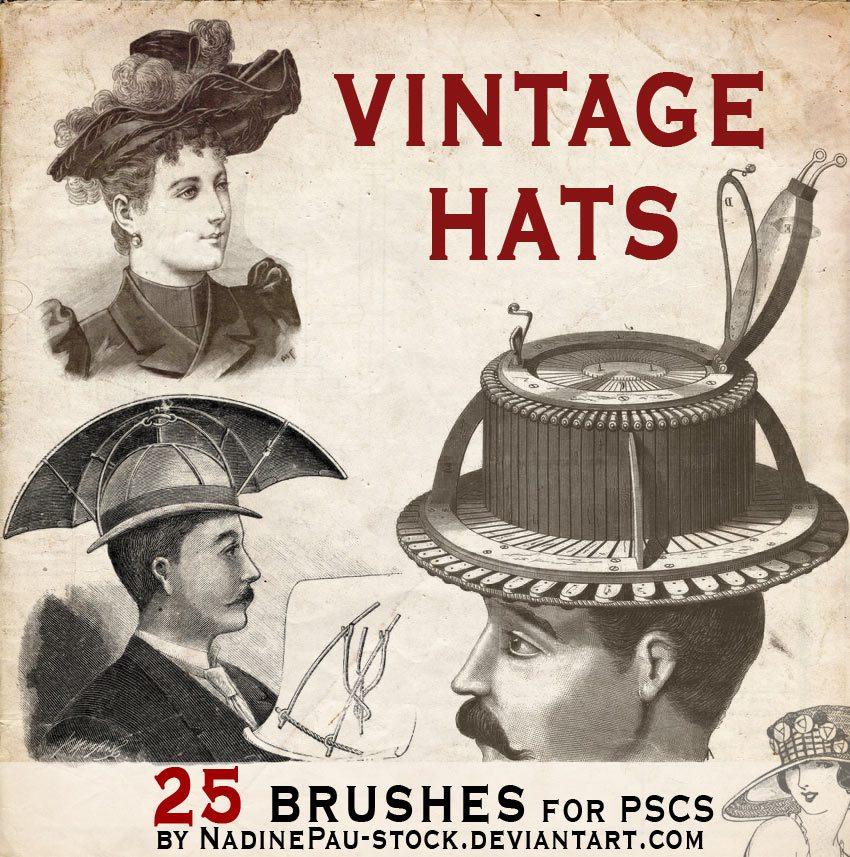 Vintage Hats Photoshop brush
