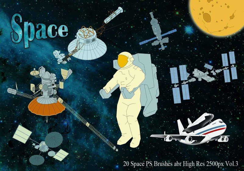 Space PS Brushes abr Vol.3 Photoshop brush