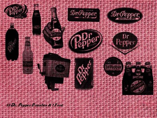 Dr. Pepper Vintage Brushes Photoshop brush