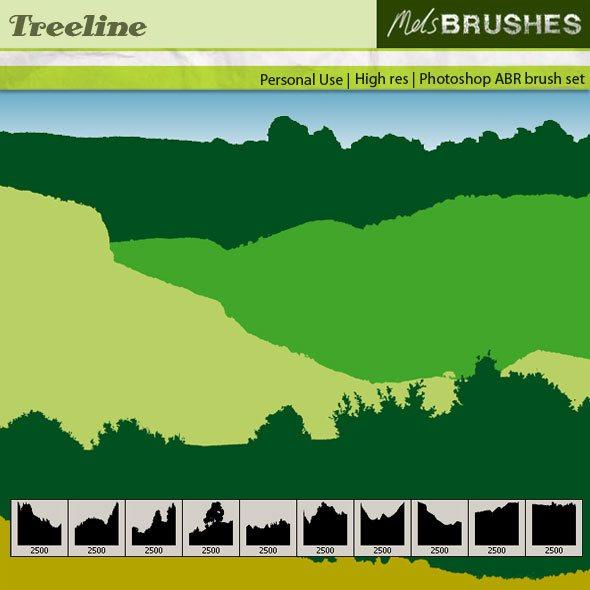 Treelines Photoshop brush