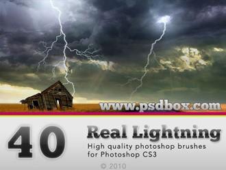 Lightning Bolt Photoshop brush
