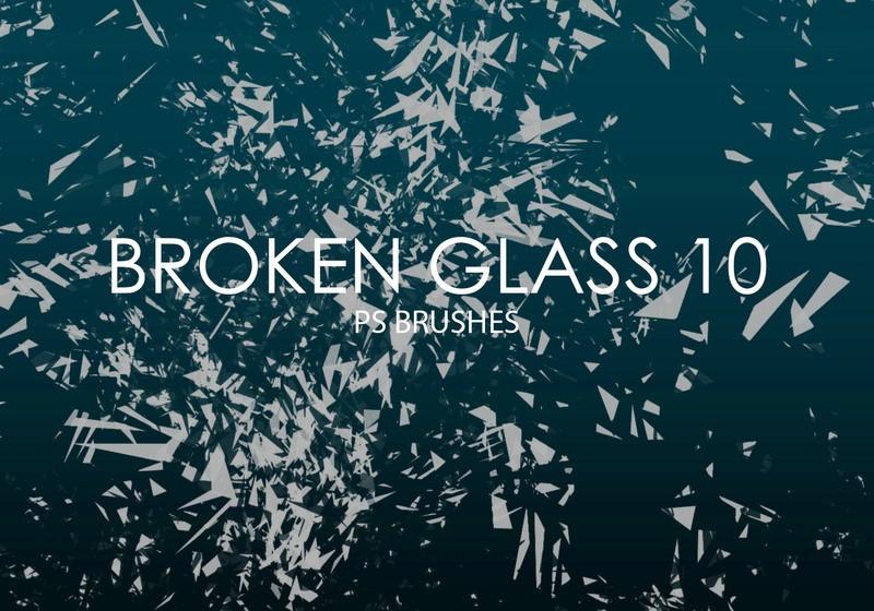 Free Broken Glass Photoshop Brushes 10 Photoshop brush