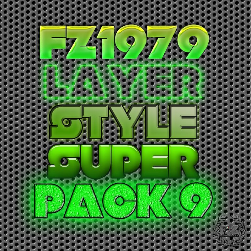 Super pack layer style 9 Photoshop brush