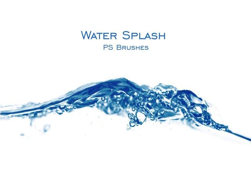20 Water Splash PS Brushes abr. Vol.2 Photoshop brush